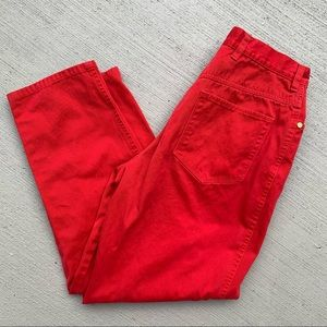 Vintage Escada Sport High Waisted Red Pants